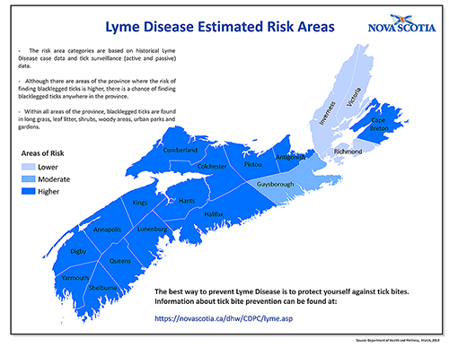 Lyme Disease Estimated Risk Areas